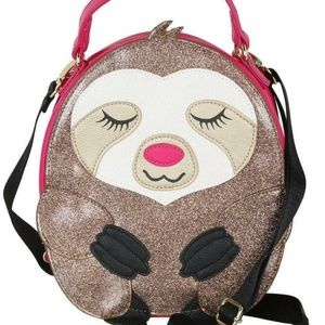 Betsey Johnson Bags - Betsey Johnson GLITTER SLOTH INSULATED LUNCH TOTE
